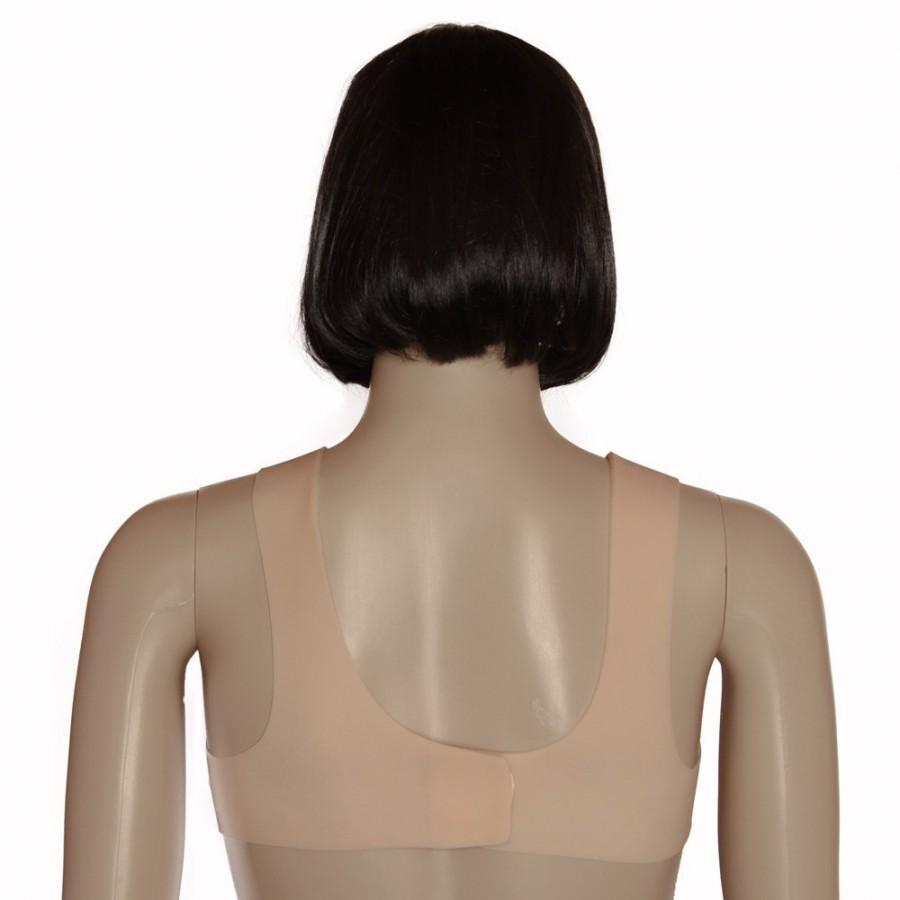 Buste fausse poitrine réaliste en silicone, forme ovale
