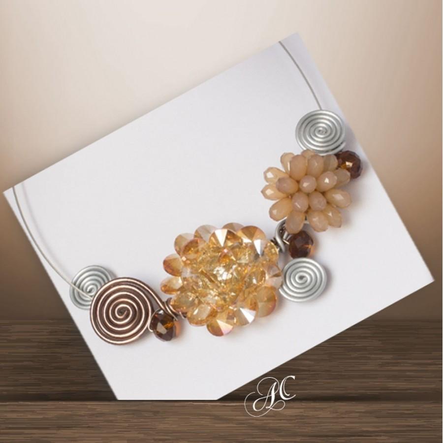 Collier fashion, motifs en cristal de résine
